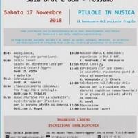 Pillole in Musica, il benessere del paziente fragile 17 novembre – Convegno Fossano